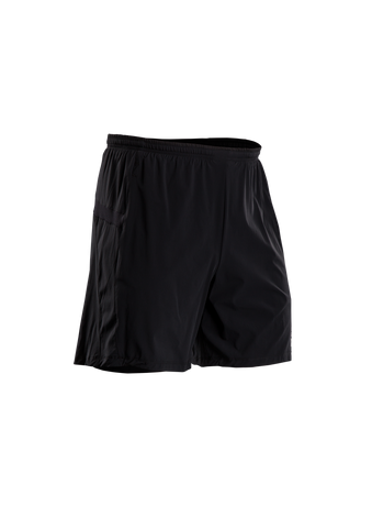 SUGOI Unisex Titan 7 inch 2 in 1 Short, Black (30349U)