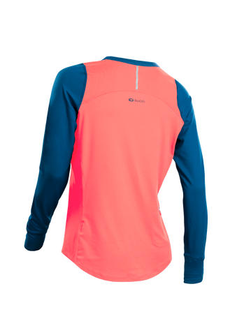 SUGOI Women's Fusion Core Long Sleeve, Electric Salmon Alt (U602000F)