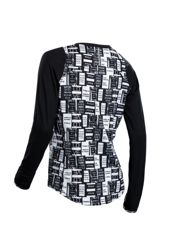 SUGOI Women's Fusion Core Long Sleeve, Black/Text Alt (U602010F)