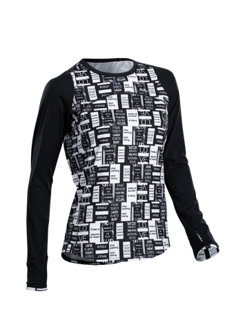 SUGOI Women's Fusion Core Long Sleeve, Black/Text (U602010F)