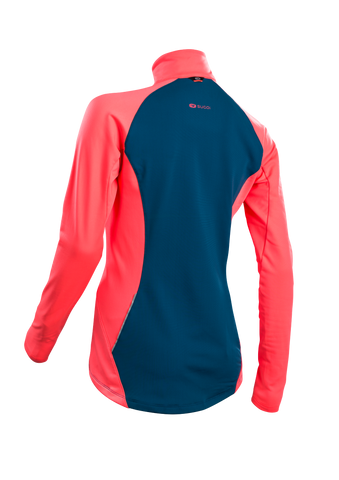SUGOI Women's MidZero Zip, Baltic Blue Alt (U645000F)