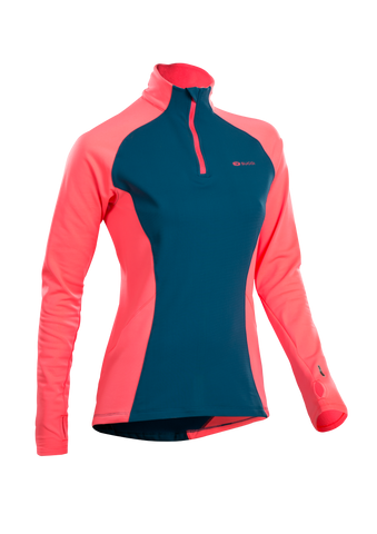 SUGOI Women's MidZero Zip, Baltic Blue (U645000F)