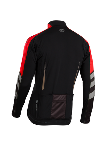SUGOI Men's RS Zero Long Sleeve Jersey, Chili/Coal/BLK Alt (U675000M)