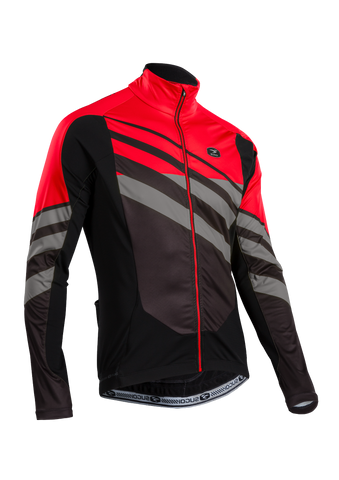SUGOI Men's RS Zero Long Sleeve Jersey, Chili/Coal/BLK (U675000M)