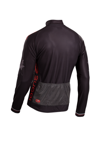 SUGOI Men's Evolution Long Sleeve Jersey, Chili/Black Alt (U675500M)