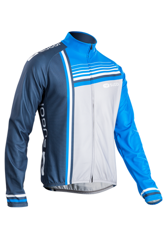 SUGOI Men's Evolution Long Sleeve Jersey, CLB/HGR/DTB (U675500M)