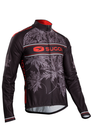 SUGOI Men's Evolution Long Sleeve Jersey, Chili/Black (U675500M)