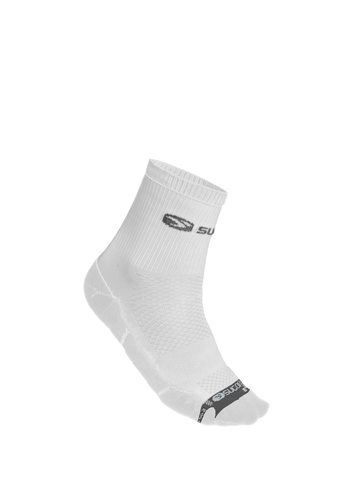 SUGOI RSR Quarter Sock, White (94989U)