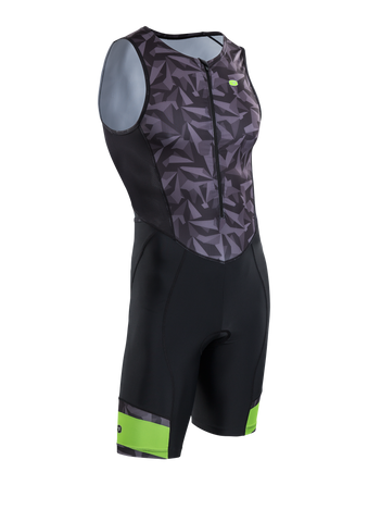 SUGOI Men's RPM Tri Suit, Black/Grey/Berzerker (U293020M)