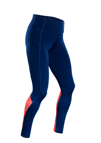 SUGOI Women's MidZero Tight, Royal/XO Print2 (U405040F)