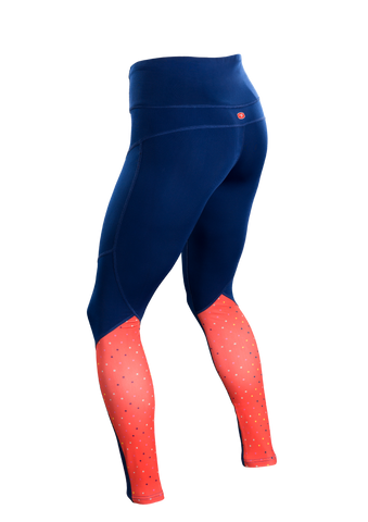 SUGOI Women's MidZero Tight, Royal/XO Print2 Alt (U405040F)