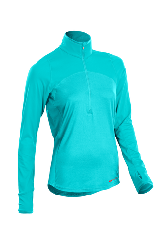 SUGOI Women's Fusion Core Zip, Seabreeze (U607000F)