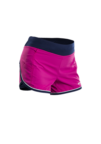 SUGOI Women's Fusion 4 inch 2 in 1 Short, Raspberry Sorbet (30306F)