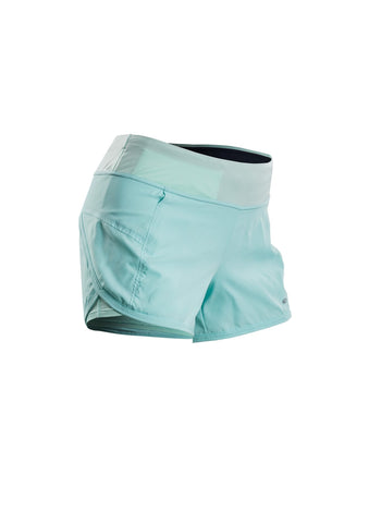 SUGOI Women's Fusion 4 inch 2 in 1 Short, Ice Blue (30306F)