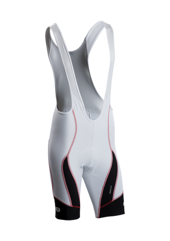 SUGOI Men's RS Pro Bib Short, White / Black (39386U)