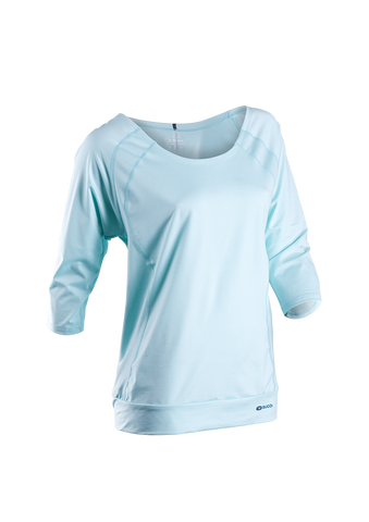 SUGOI Women's Verve 3/4 Sleeve, Ice Blue (50222F)