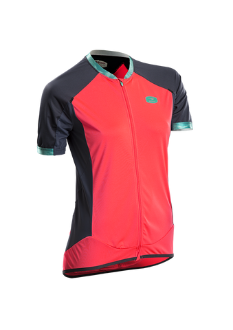 SUGOI Women's Climber's Jersey, Electric Salmon (57319F)