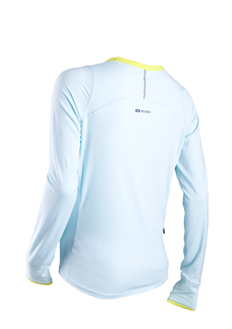 SUGOI Women's Fusion Core L/S, Ice Blue Alt (60016F)