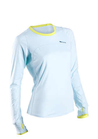 SUGOI Women's Fusion Core L/S, Ice Blue (60016F)