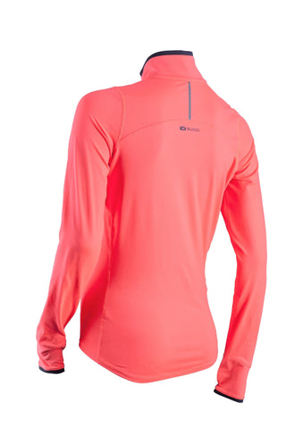 SUGOI Women's Fusion Core Zip, Electric Salmon Alt (60036F)