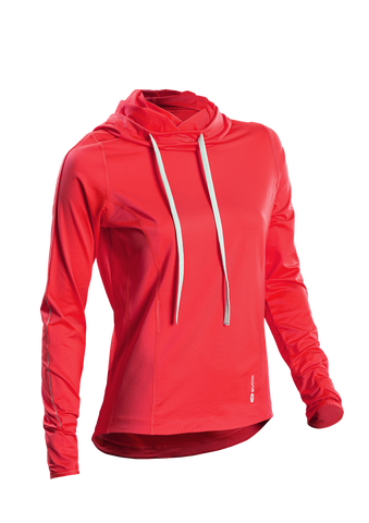 SUGOI Women's Verve Hoodie, Electric Salmon (63213F)