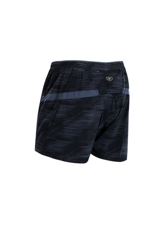 SUGOI Men's Titan 5 inch Short, Black/CoalBlue Alt (U300530M)