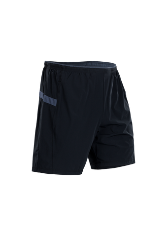 SUGOI Men's Titan 7 inch 2 in 1 Short, Black/Coal Blue (U301020M)