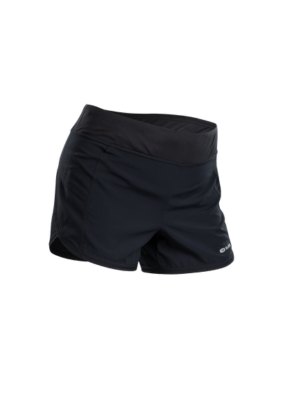 SUGOI Women's Fusion 4 inch 2 in 1 Short, Black/Coal Blue (U301040F)