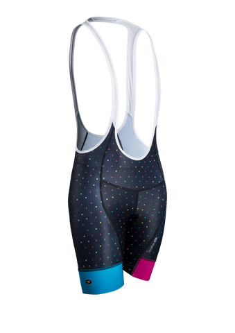 SUGOI Women's Evolution Bib Short, Black/XO Print (U392010F)