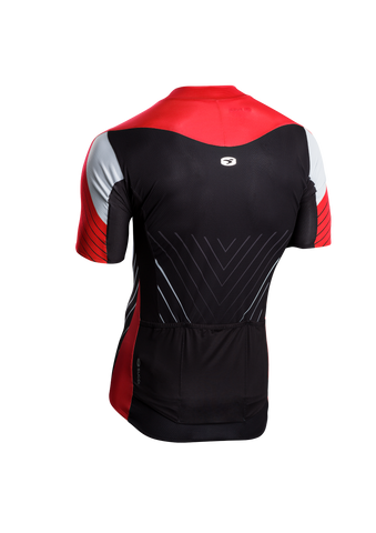 SUGOI Men's RSE Jersey, Chili/Black/White Alt (U575010M)