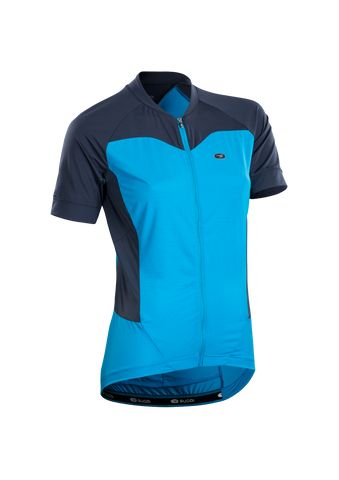 SUGOI Women's Evolution Ice Jersey, Glacier Blue (U576020F)