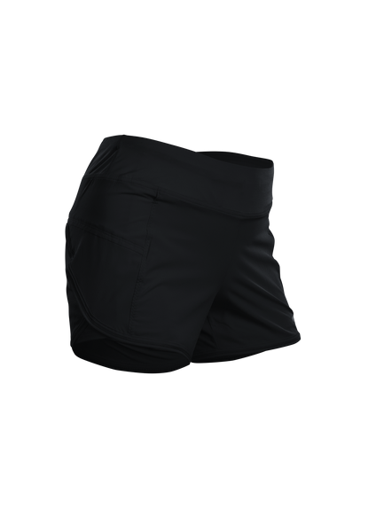 SUGOI Women's Fusion 4 inch 2 in 1 Short, Black (U301060F)