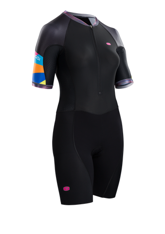 SUGOI Women's RS Tri Speedsuit, Geo/RoadMap (U371000F)
