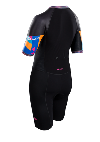SUGOI Women's RS Tri Speedsuit, Geo/RoadMap Alt (U371000F)