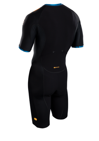 SUGOI Men's RS Tri Speedsuit, Baltic Blue Alt (U371000M)