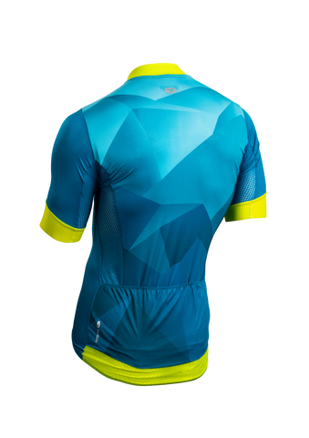 SUGOI Men's RS Climber`s Jersey, Ocean Depth/Mountain Print Alt (U575520M)