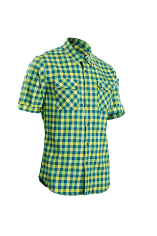 SUGOI Men's Shop Shirt, Baltic/Super Nova (U595000M)