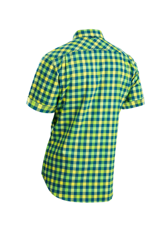 SUGOI Men's Shop Shirt, Baltic/Super Nova Alt (U595000M)