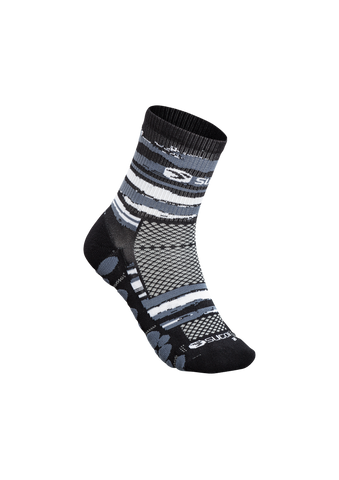 SUGOI RSR Quarter Sock Printed, Black/Brush Stroke (U940520U)