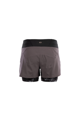 SUGOI Women's Prism 2 in 1 Short, Dark Charcoal Alt (U301080F)