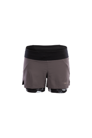 SUGOI Women's Prism 2 in 1 Short, Dark Charcoal (U301080F)