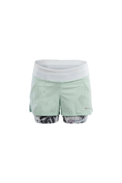 SUGOI Women's Prism 2 in 1 Short, Mint Wisp (U301080F)