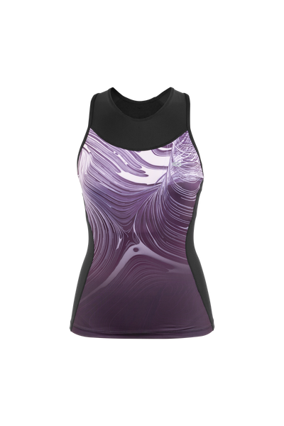 SUGOI Women's RPM Tri Racerback Tank, Regal Wave (U203040F)