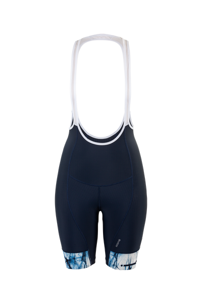 SUGOI Women's Evolution PRT Bib Shorts, White Shibori (U392020F)