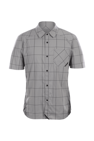 SUGOI  Off Grid Work Shirt, Light Grey Grid Plaid (U595010M)