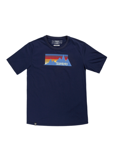 Sombrio Men's Stock Tee, Multi Mountain (B500100M)
