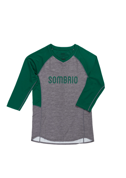 Sombrio Women's Vista Jersey, Evergreen Heather (B590100F)