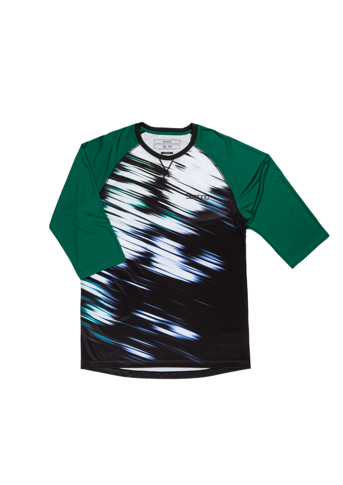 Sombrio Men's Chaos Jersey, Evergreen Tunnel (B590110M)