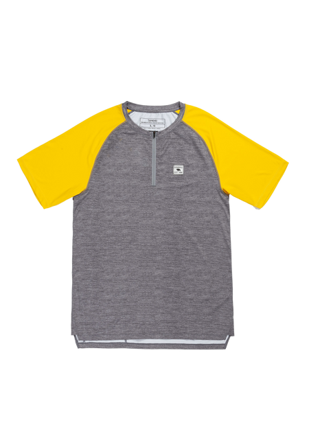 Sombrio Men's Ridgeline Jersey, Mustard & Heather Gray (B592030M)