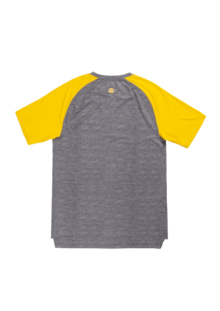 Sombrio Men's Ridgeline Jersey, Mustard & Heather Gray Alt (B592030M)